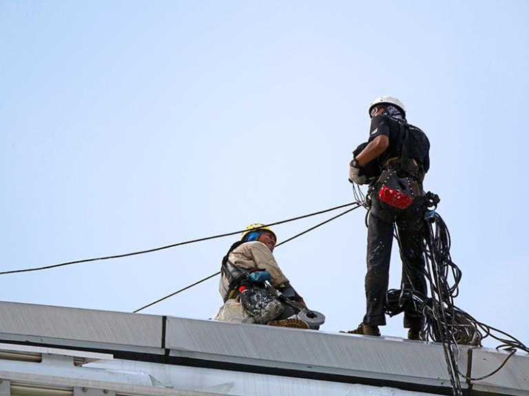 Redes de proteção garantem mais segurança do trabalho.